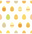 Tile pattern with easter eggs and yellow polka dot vector image vector image