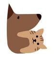 veterinary logo for pet shop vector image vector image