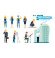 workers architect repairman director vector image