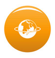 worldwide icon orange vector image vector image