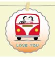 Romantic card6 vector image