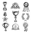 Sketch Medal Design Icon Set vector image