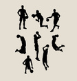 Male Basketball Silhouettes vector image
