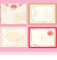 Set of Postcards in vintage design on polka dots p vector image