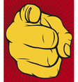 Finger point poster vector | Price: 1 Credit (USD $1)