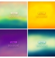 Abstract colorful blurred backgrounds set 6 vector image