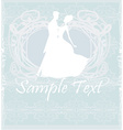 Ballroom wedding couple dancers - invitation vector image vector image
