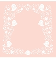 birds and flowers border 2 vector image vector image