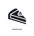 black pumpkin pie isolated icon simple element vector image vector image