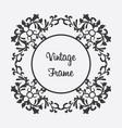black round vintage frame floral ornament vector image