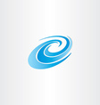 blue water wave element vector image vector image