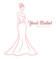 bridal boutique logo elegant wedding gown vector image vector image