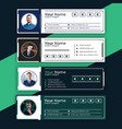 business creative email signatures template design vector image