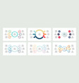 business infographics organization charts with 6 vector image vector image