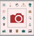 camera symbol icon elements for your design vector image