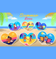 couple in love on sea photos on beach background vector image vector image
