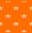 crab seafood pattern seamless vector image vector image