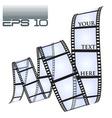 eps10 filmstrip vector image
