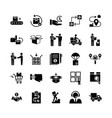 fast delivery logistic icons big set in flat style vector image