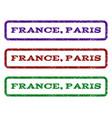 france paris watermark stamp vector image