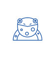 funny frog line icon concept funny frog flat vector image vector image