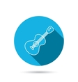 Guitar icon Musical instrument sign vector image