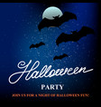 halloween party banner background with full moon vector image vector image