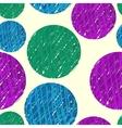 hand drawn colorfull circles vector image