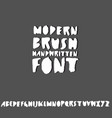 handdrawn dry brush font modern brush lettering vector image
