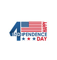 happy 4th july holiday lettering banner vector image