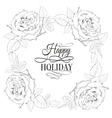 happy holiday valentines card vector image vector image