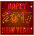 Happy New Year card on bokeh background vector image vector image