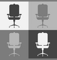 icon set office chair vector image vector image