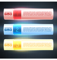 Illuminated Infographic Options Banners vector image vector image