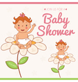 invitation card on baby shower vector image vector image