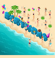 isometry holiday birthday on the seashore vector image