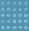 Label line icons on blue background vector image vector image
