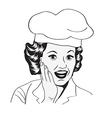 Lady Chef retro vector image vector image