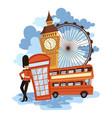 landscape london cartoon vector image