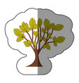 lime green tree art icon vector image vector image