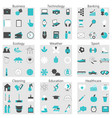 line icons for different vector image vector image