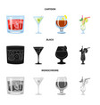 liquor and restaurant logo vector image vector image