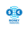 logo remittances vector image vector image