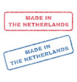 made in the netherlands textile stamps vector image vector image