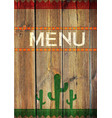 mexican menu vector image