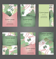 minimal covers artistic painted design set vector image vector image