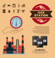 oil industry gas station trasnport factory vector image vector image