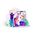 rating star in social media advertisement vector image vector image