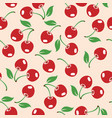 red cherry seamless pattern vector image vector image