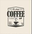 retro vintage coffee design background 0002 vector image vector image